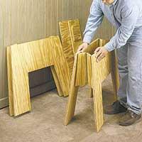 plywood sawhorse