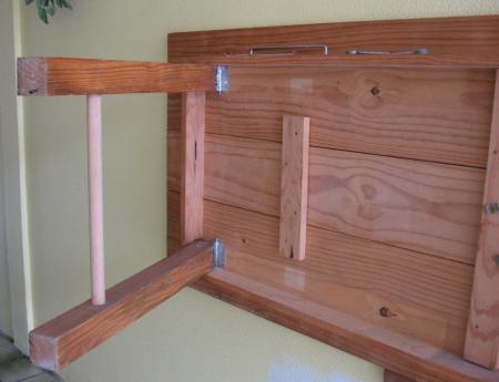 Mesas dobraveis de madeira