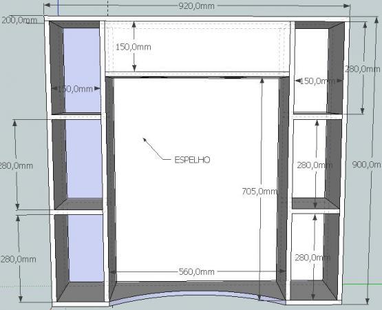 Armário para Banheiro  GDM Fóruns -> Como Fazer Armario De Banheiro Reciclado